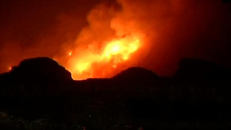 Delhi fire,Bhalswa,Bhalswa landfill