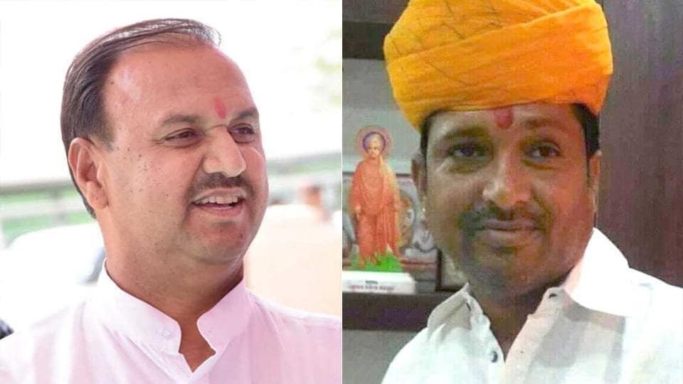 District Congress committee (Jodhpur rural) general secretary, Kishanaram Udani (L) and District BJP president of Phalodi, Revant Singh Rajpurohit .