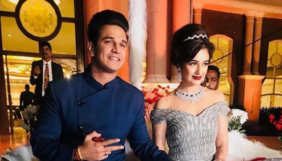 Prince Narula and Yuvika Chaudhary's wedding reception in Chandigarh was a grand affair.