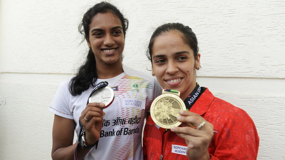 File picture of PV Sindhu and Saina Nehwal