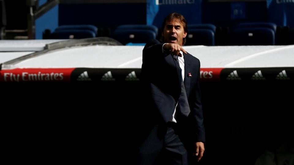 File image of Real Madrid coach Julen Lopetegui.