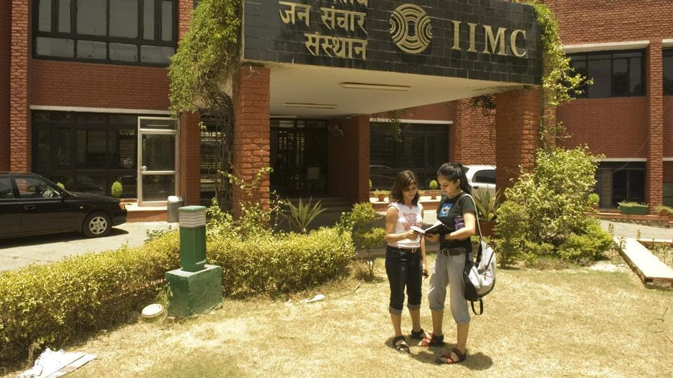 Students at Indian Institute of Mass Communication ( IIMC) in New Delhi.