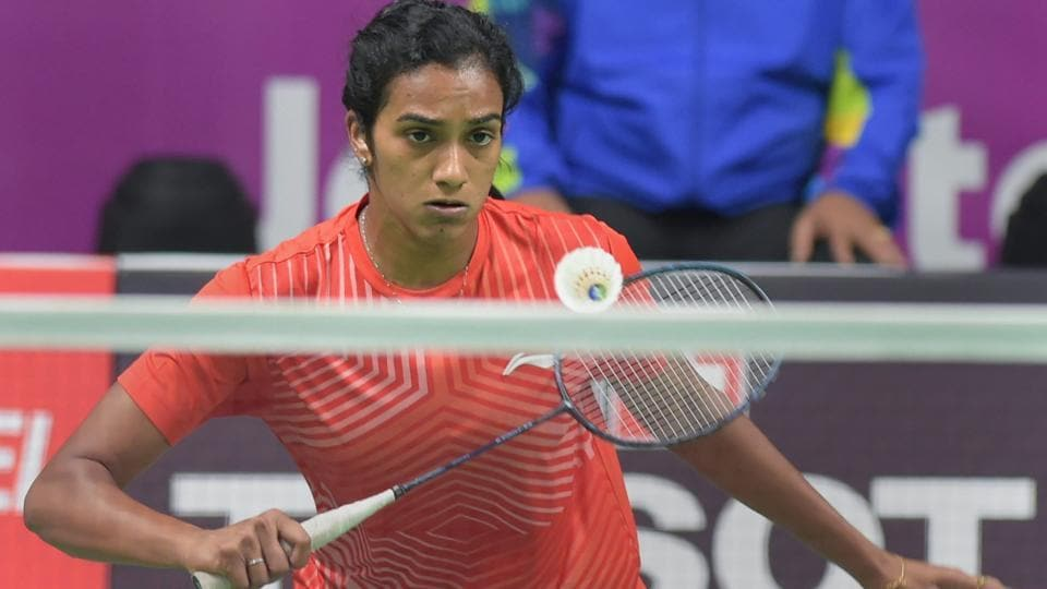 PV Sindhu plays against Chinese Taipei player Tai Tzu Ying in the women's singles badminton final match at the Asian Games.