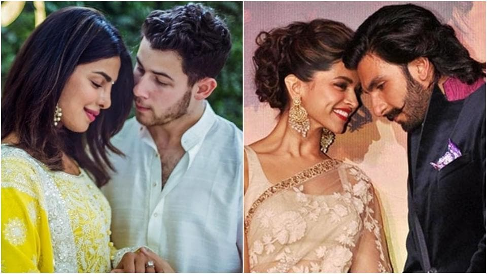 Priyanka Chopra and Nick Jonas's wedding and Deepika Padukone and Ranveer Singh reception is going to fall on the same day.