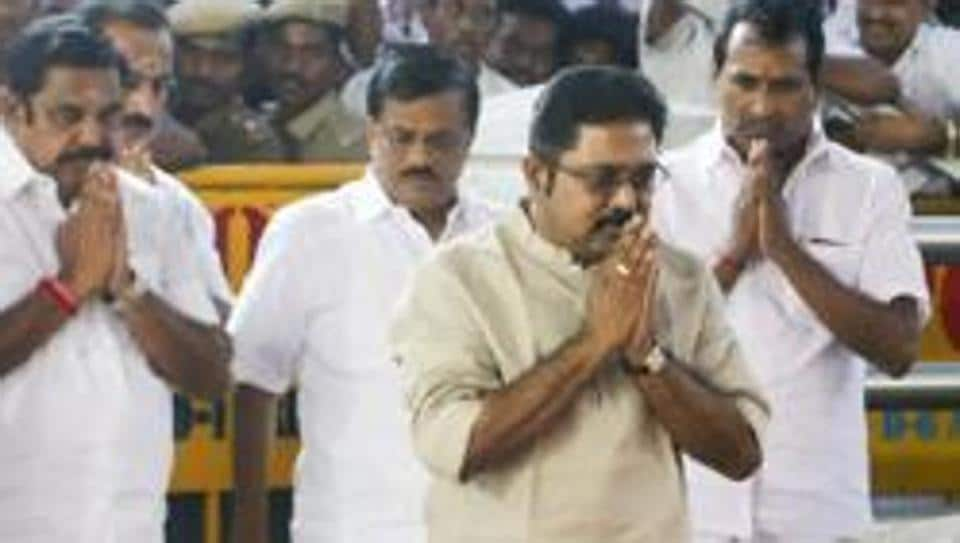 The Madras High Court will on Thursday pronounce its verdict in the case concerning the disqualification of 18 dissident AIADMK MLAs of Tamil Nadu assembly who owe allegiance to TTV Dhinakaran (in pic, in off white kurta)