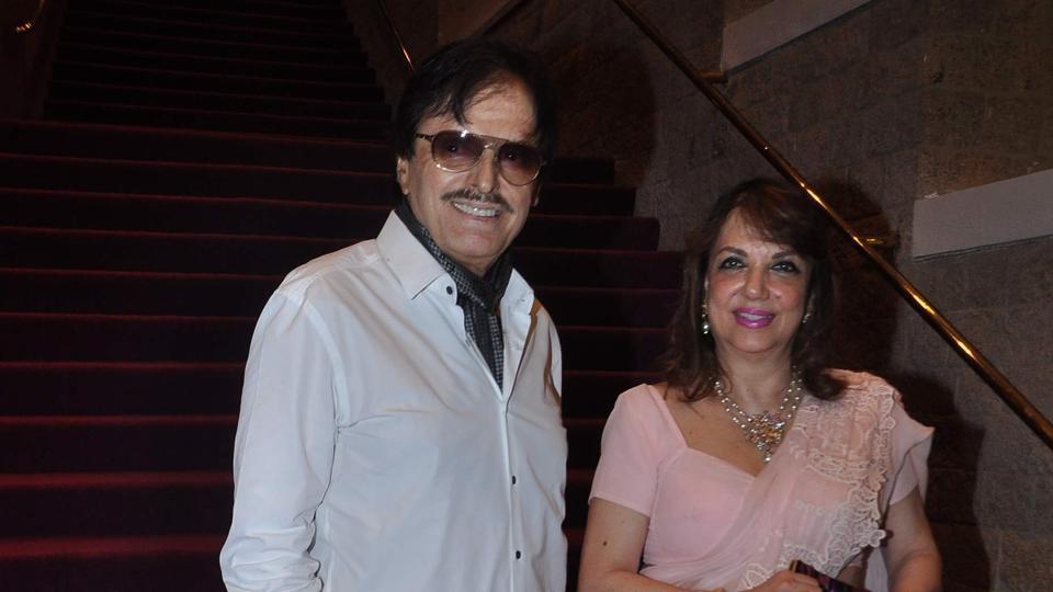 Sanjay Khan with wife Zarine.