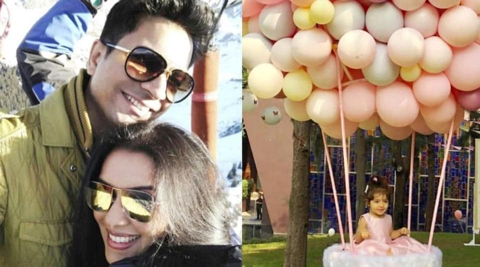 Asin and Rahul Sharma planned the perfect first birthday bash for their daughter Arin. (Instagram)