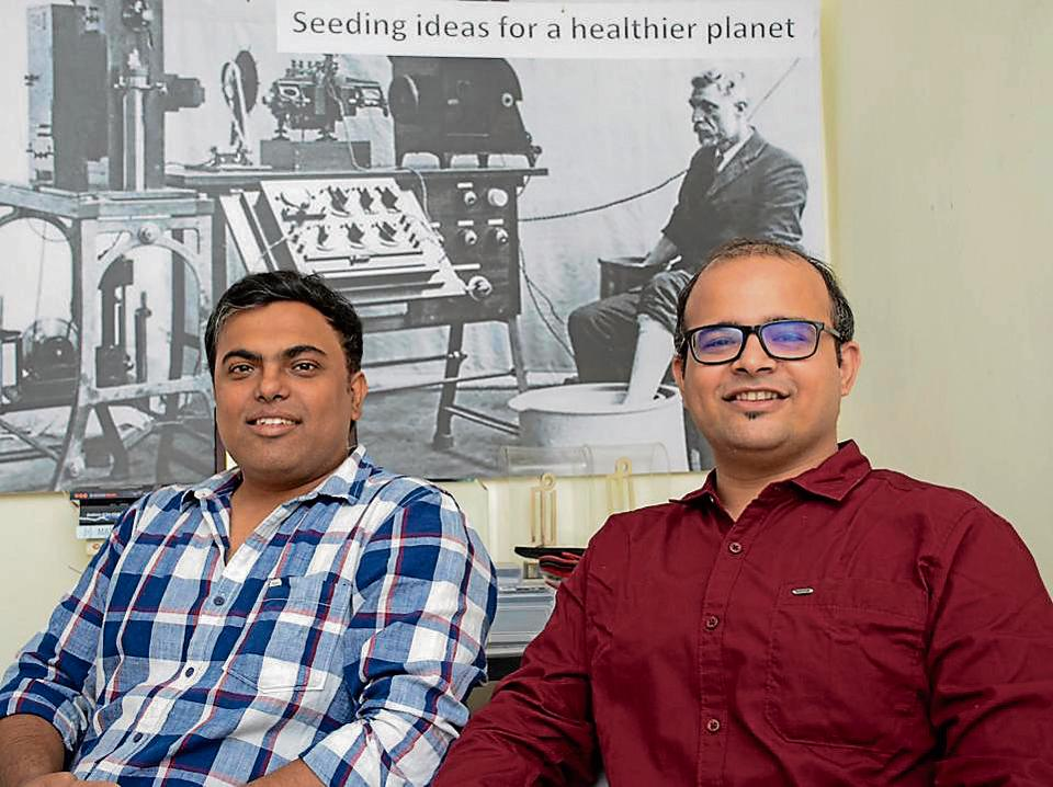 Nishant Kumar (left) and Prateek Jain founder and co-founder of Embryyo technologies.