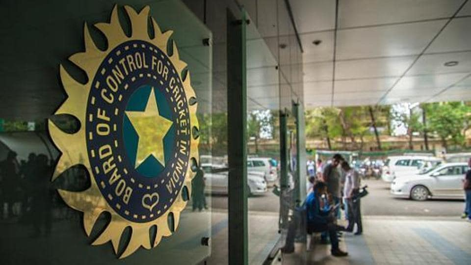 A view of logo of the Board of Control for Cricket in India (BCCI) in Mumbai.