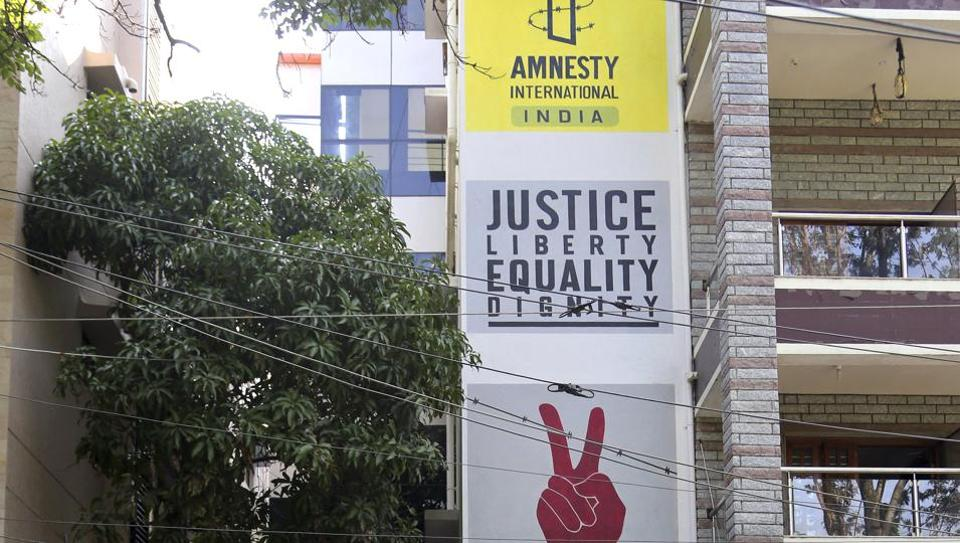 The Amnesty International office in Bangalore on October 26.