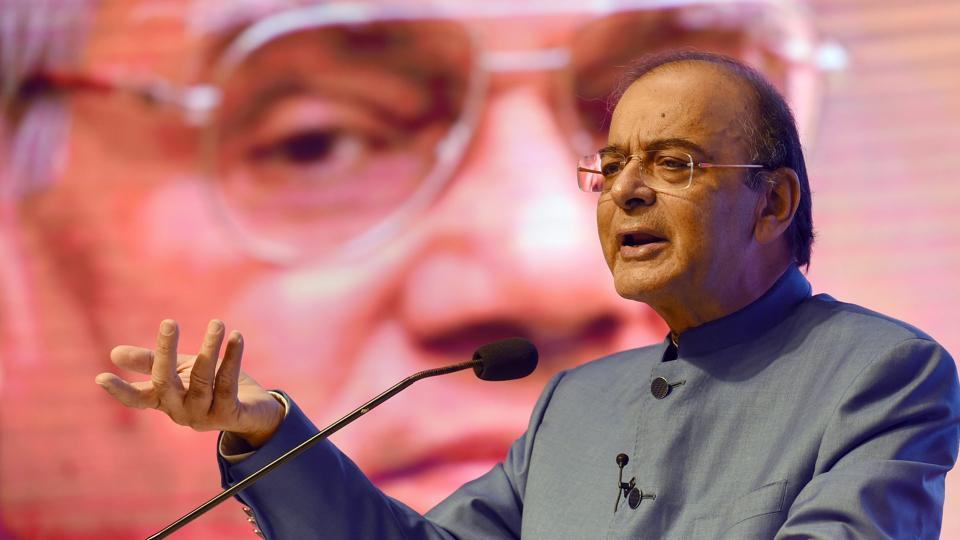 Finance minister Arun Jaitley addresses the 1st Atal Bihari Vajpayee Memorial Lecture 2018, organised by the India Foundation, in New Delhi on October 27.
