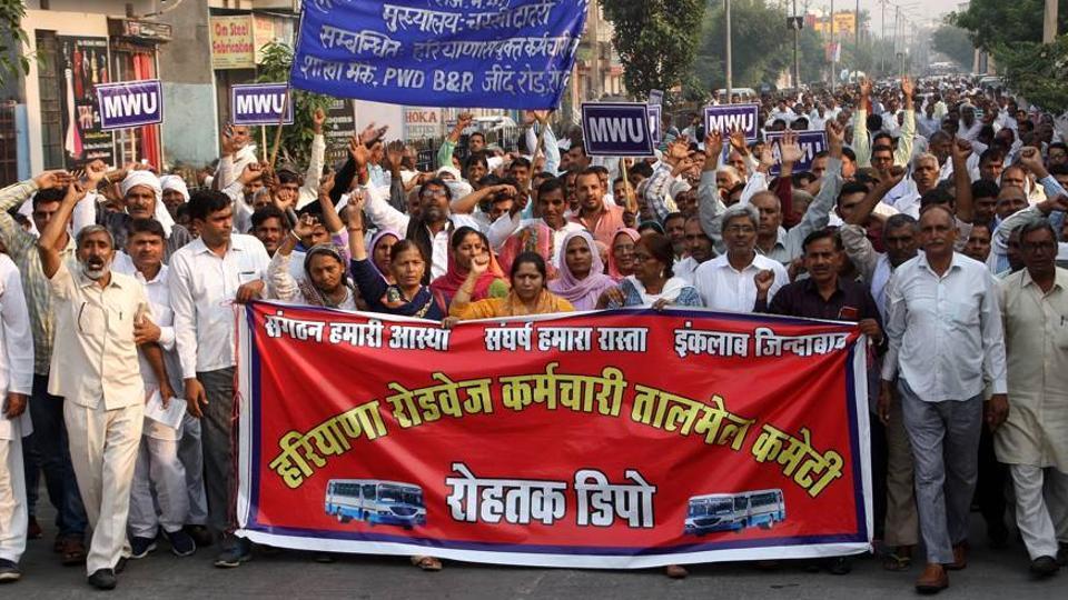 Haryana Roadways strike,Haryana