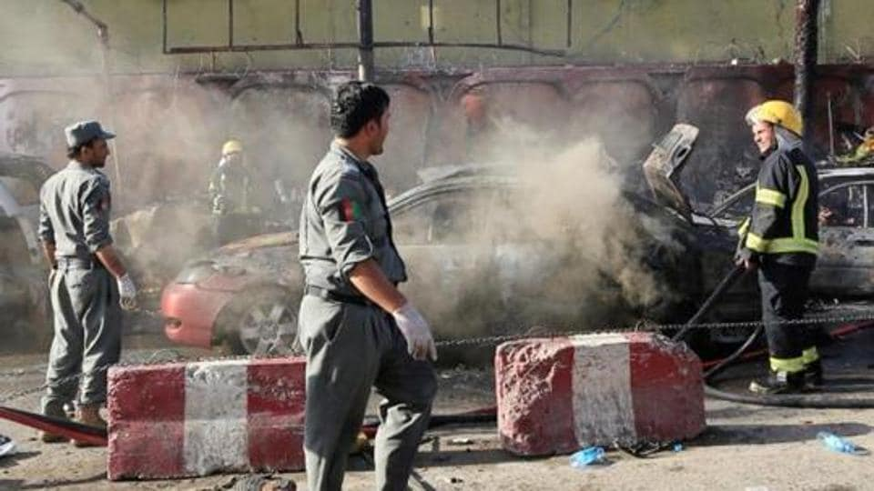 According to reports, a suicide bomber detonated a car packed with explosives outside a police compound in central Afghan province of Wardak on Saturday.