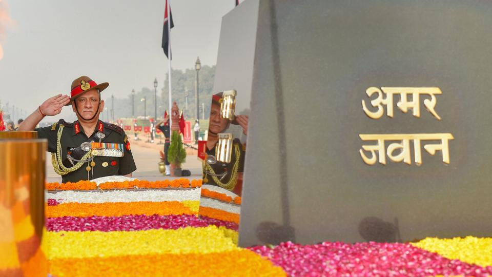 Infantry day,Bipin Rawat,Army chief on stone pelters
