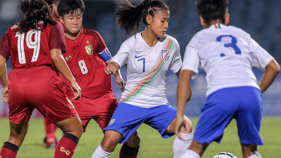 India u-19 women's football team,Thailand U-19 women's football team,Grace Lalrampari