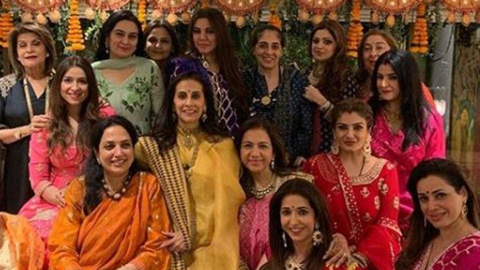 Miss You Sridevi Says Anil Kapoors Wife Sunita As Family Celebrates Karwa Chauth See Photos