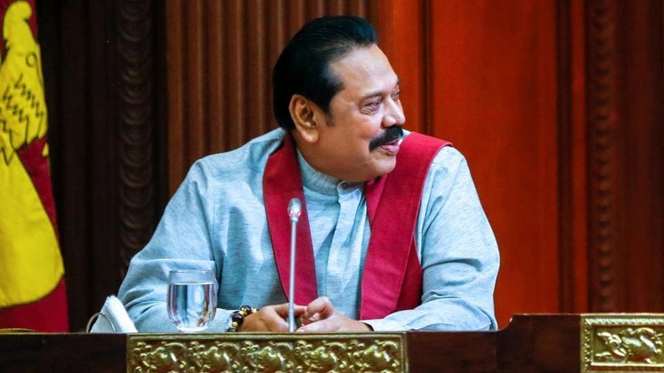 Sri Lankan President Maithripala Sirisena said the only choice for him was to dismiss PM Ranil Wickremesinghe and invite Mahinda Rajapaksa (pictured) to take over as prime minister and form a new government.