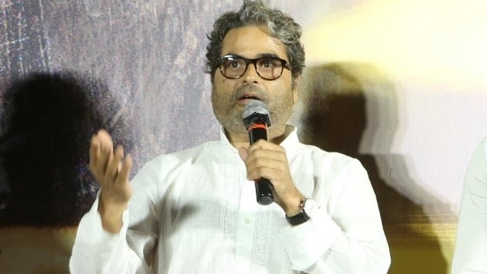 Vishal Bhardwaj at the song launch of film Pataakha, in Mumbai.