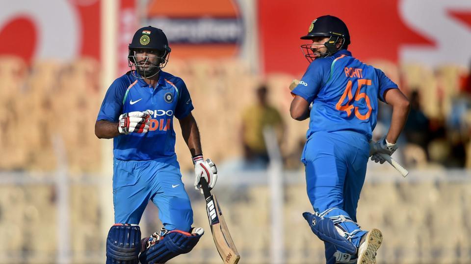 Rohit Sharma and Ambati Rayudu's tons powered India to 224 runs win against West Indies | AP