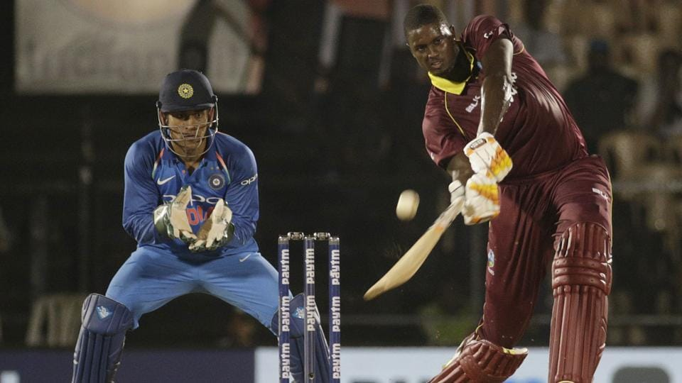 West Indies' Jason Holder bats during the fourth one-day international cricket match. (AP)