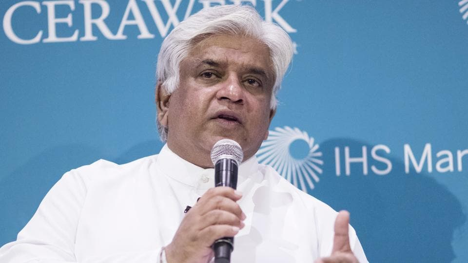 Arjuna Ranatunga, Sri Lanka's petroleum minister, was arrested Monday for allegedly ordering his guards to open fire on a group of protesters (File photo)