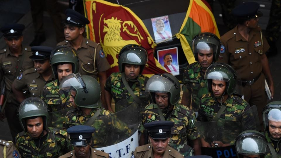 A constitutional crisis gripping Sri Lanka since the president's shock dismissal of Prime Minister Ranil Wickremesinghe erupted into violence.