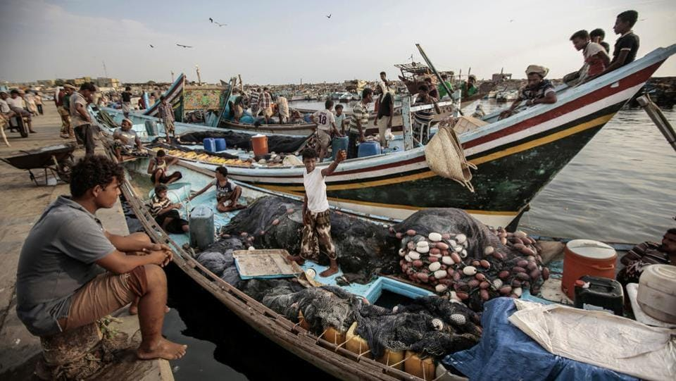 In October 2015, coalition ships and Apaches killed 48 fishermen who were heading to an island some 48 kilometers offshore to rest. The governing body in charge of Red Sea fishing in Yemen, which is currently controlled by the Houthis, says more than 220 fishermen have been killed in more than 70 attacks since the fighting broke out in March 2015. (Hani Mohammed / AP)