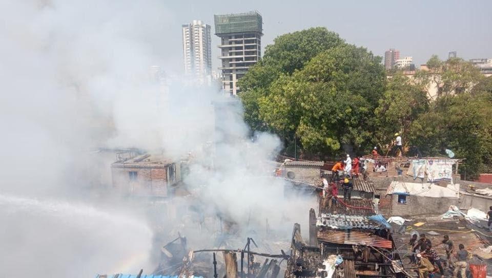 Mumbai slum fire,Bandra slum fire,Brihanmumbai Municipal Corporation