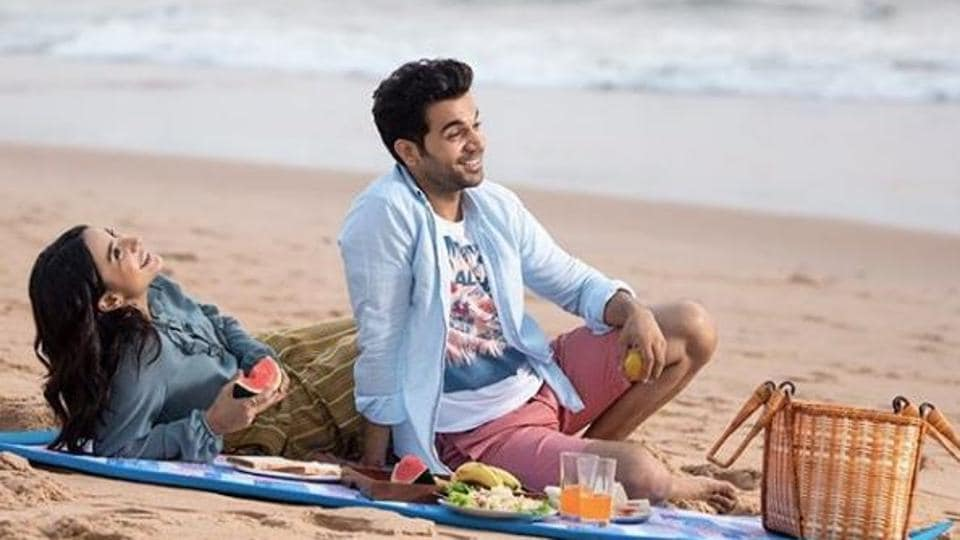 Rajkummar Rao and Patralekha relax on a beach in Goa.