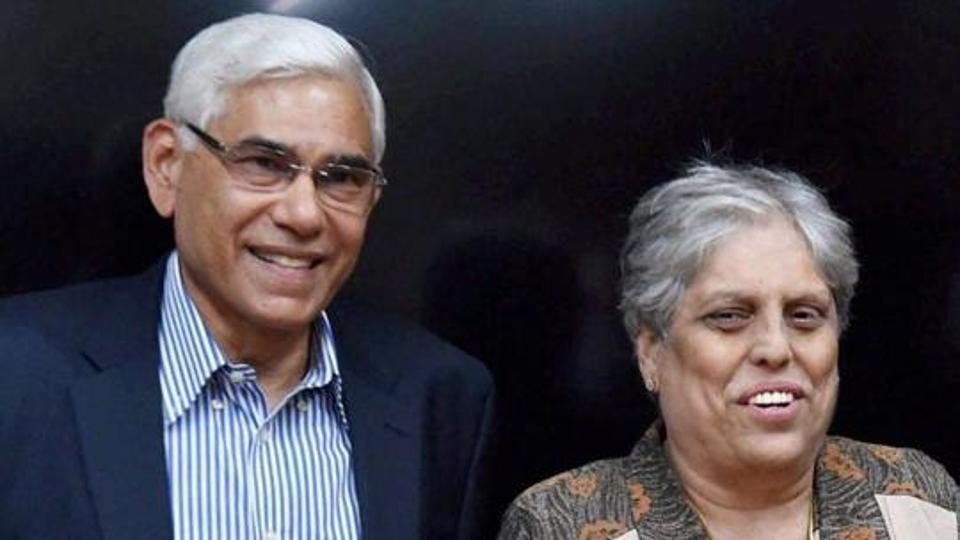 File image of CoA chief Vinod Rai (left) and Diana Edulji.
