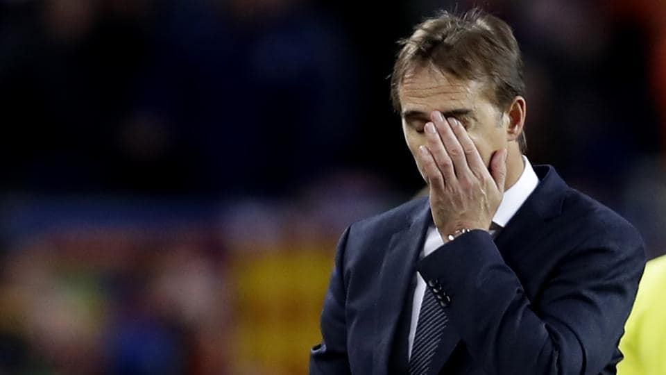 File image of sacked Real Madrid coach Julen Lopetegui.