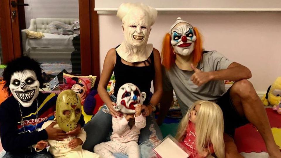 Cristiano Ronldo celebrates Halloween with family.