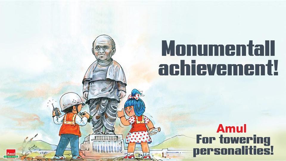 amul,tribute,Statue of Unity