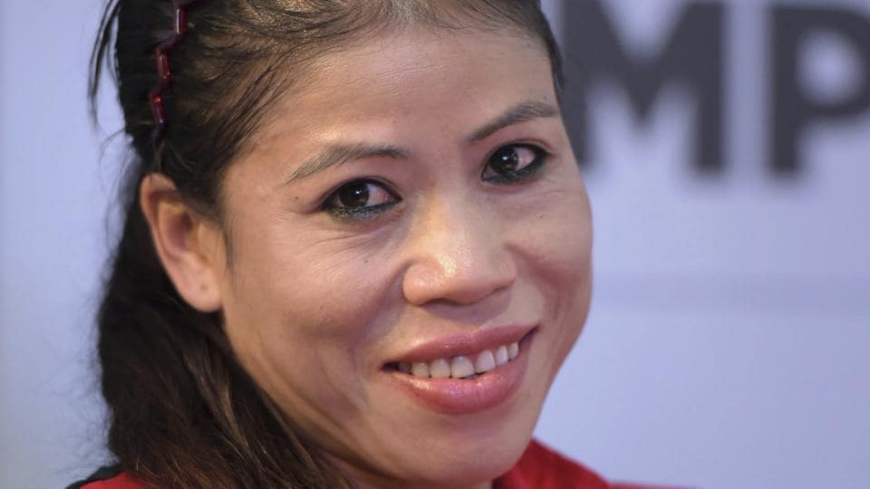Mary Kom, Indian woman boxer and brand ambassador for the AIBA Women's World Boxing Championship during an event to unveil the game's logo.
