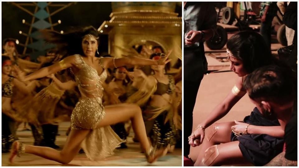 Katrina Kaif scraped her knees while shooting for Thugs of Hindostan.