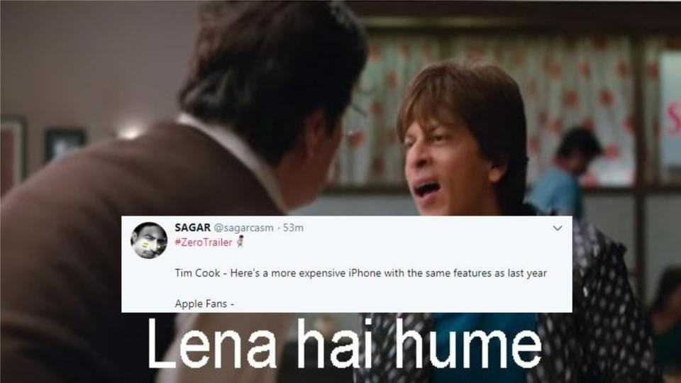 Shah Rukh Khan's Zero has inspired memes already. Here are a few.