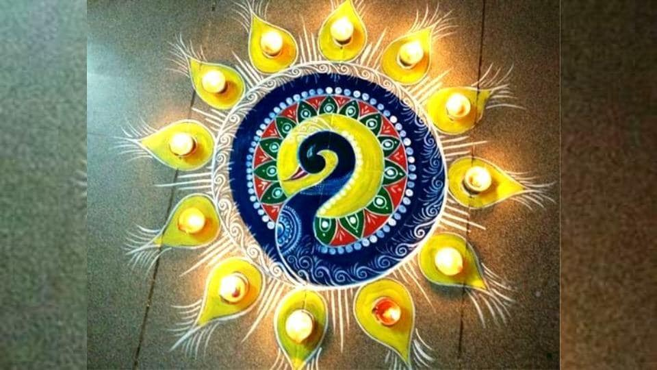Latest Diwali Rangoli 2018 Latest Deepavali Rangoli Designs Images Photos And Pictures More Lifestyle Hindustan Times