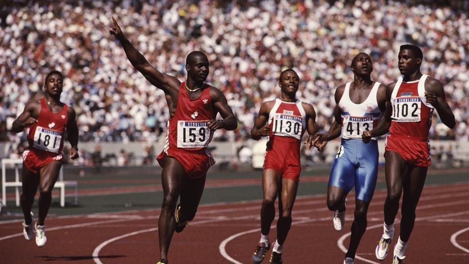 Ben Johnson,Olympics,100m race