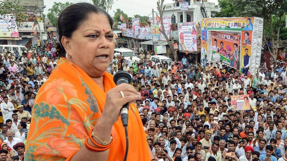 As part of a mass-contact drive ahead of the December 7 assembly polls in Rajasthan, chief minister Vasundhara Raje has written to around 1 crore voters appealing them to vote for the BJP.