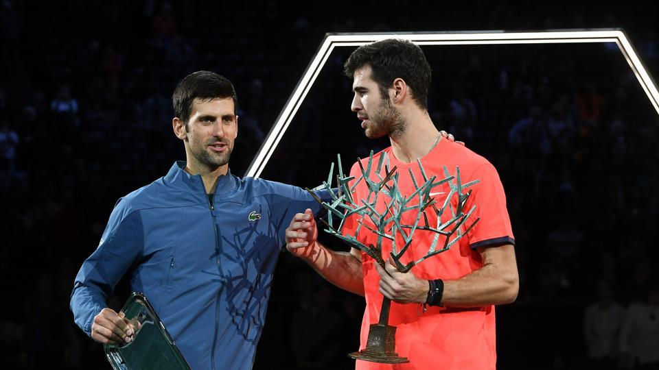 Paris Masters,Karen Khachanov,Novak Djokovic