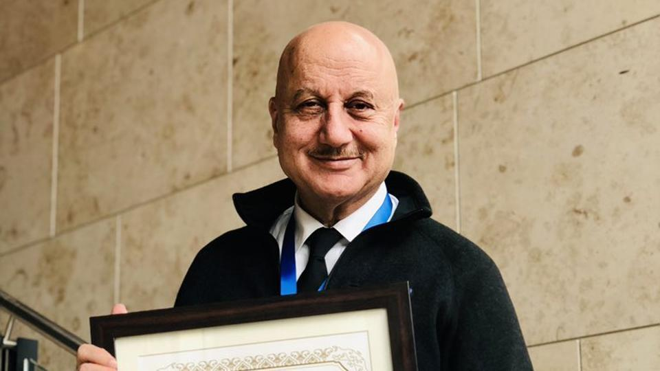 Anupam Kher shared the news on Twitter with his fans.