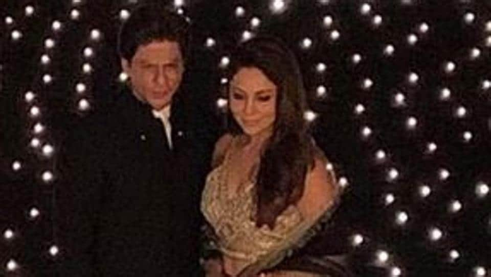 Shah Rukh Khan, wife Gauri Khan and daughter Suhana played the perfect hosts to their Bollywood friends at their Diwali bash.