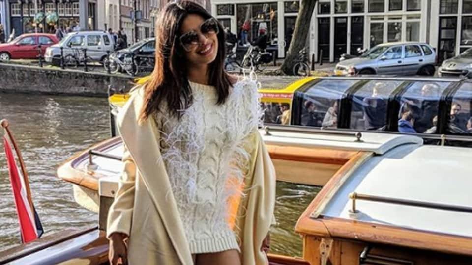 Priyanka Chopra is in bachelorette party mode.