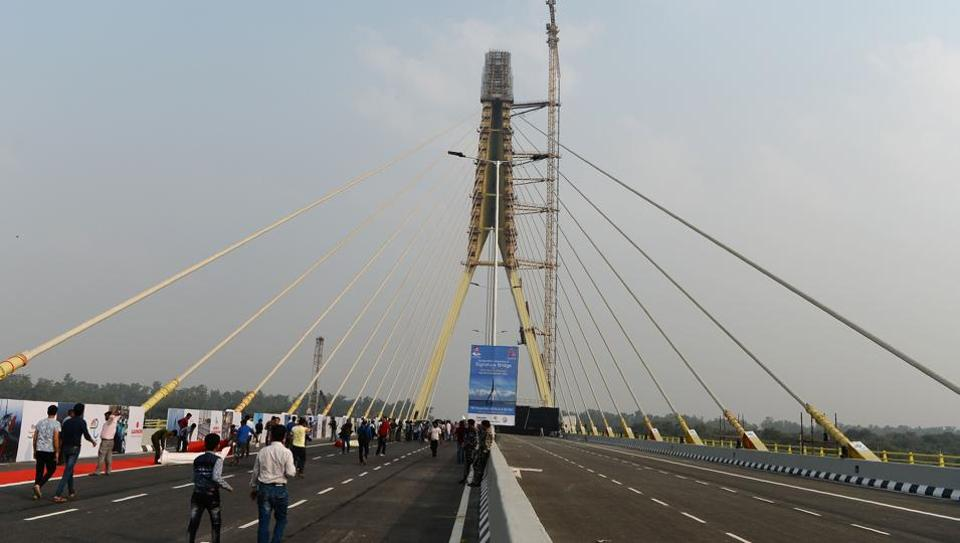 The cable-stayed Signature Bridge was inaugurated in New Delhi on November 4.