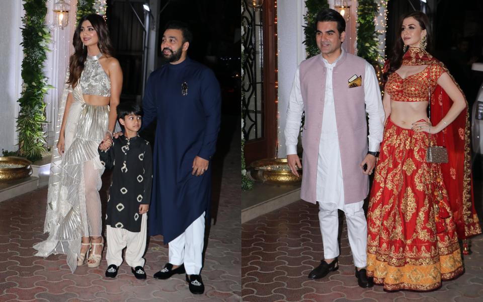 Arbaaz Khan Girlfriend Giorgia Andriani And More Attend Shilpa