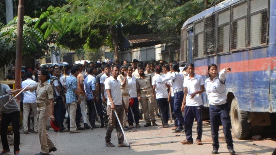 Bihar Police,patna police lines,violence in patna police lines