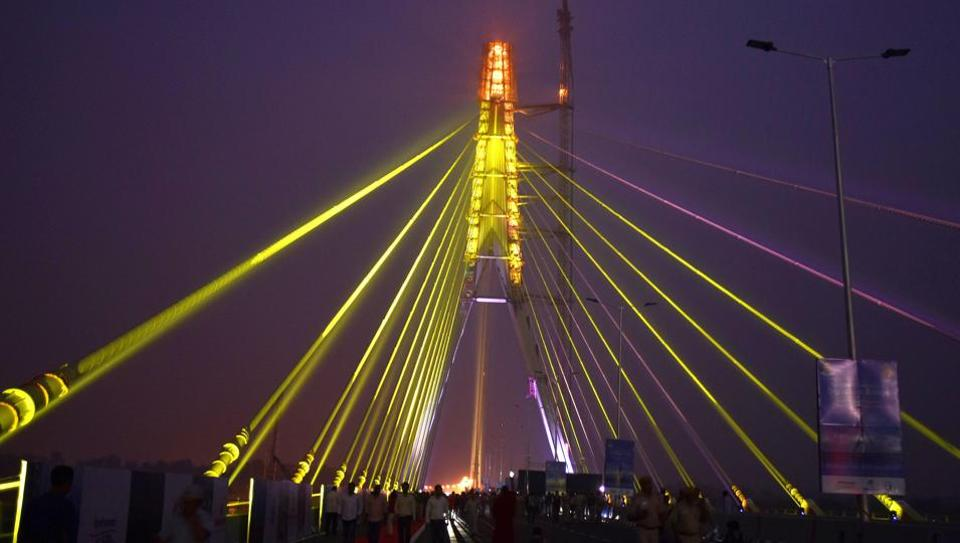 Delhi Signature Bridge,Delhi Signature Bridge Route Map,Route Map of Delhi Signature Bridge