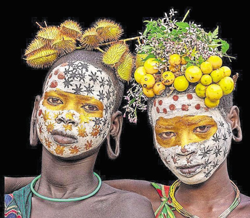 Latika Nath,Ethiopia,Body painting