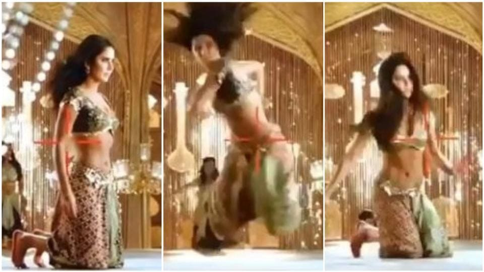 Katrina Kaif did a 360 degree jump on her knees for a dance step in Thugs of Hindostan.