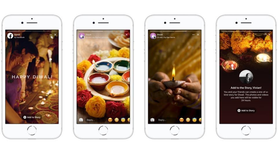 facebook,diwali 2018,diwali stories